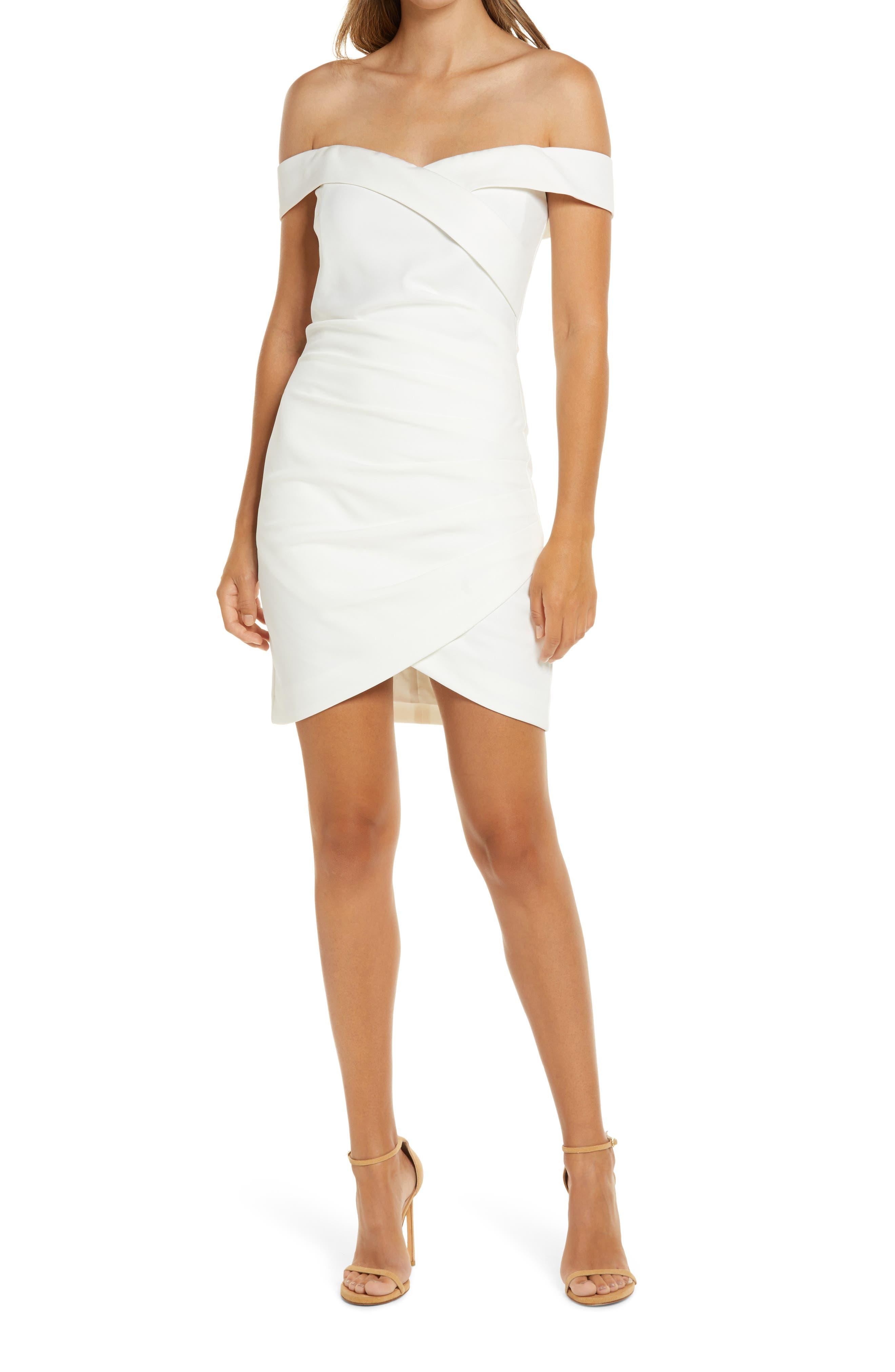 Off The Shoulder Wrap Look Minidress