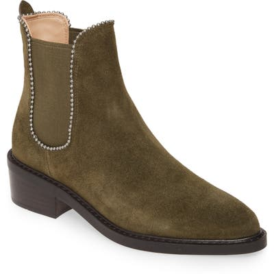 Coach Bowery Ball Chain Chelsea Bootie, Green