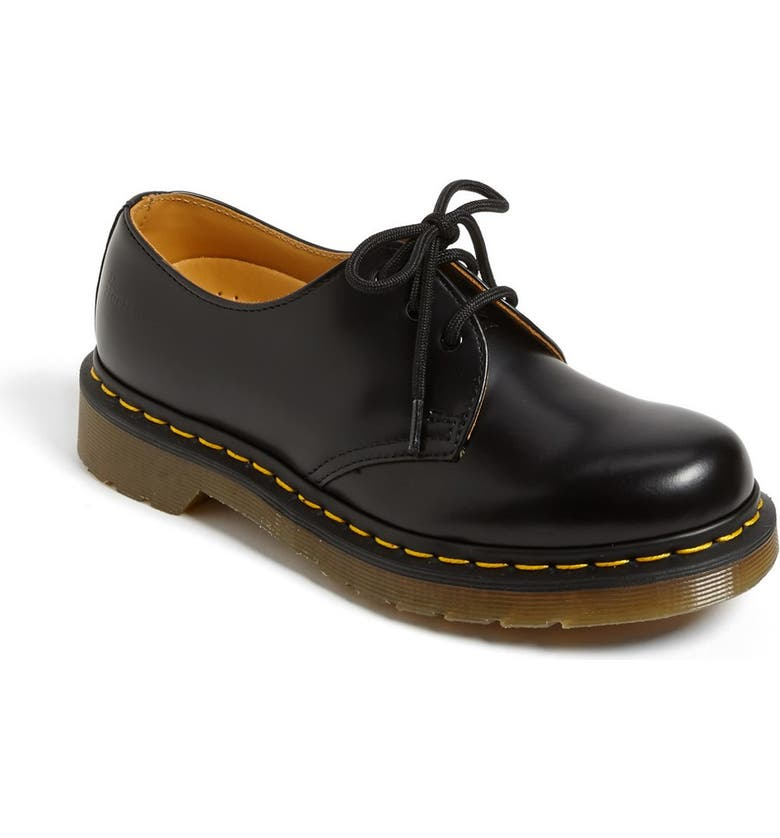 DR. MARTENS '1461 W' Oxford, Main, color, BLACK SMOOTH