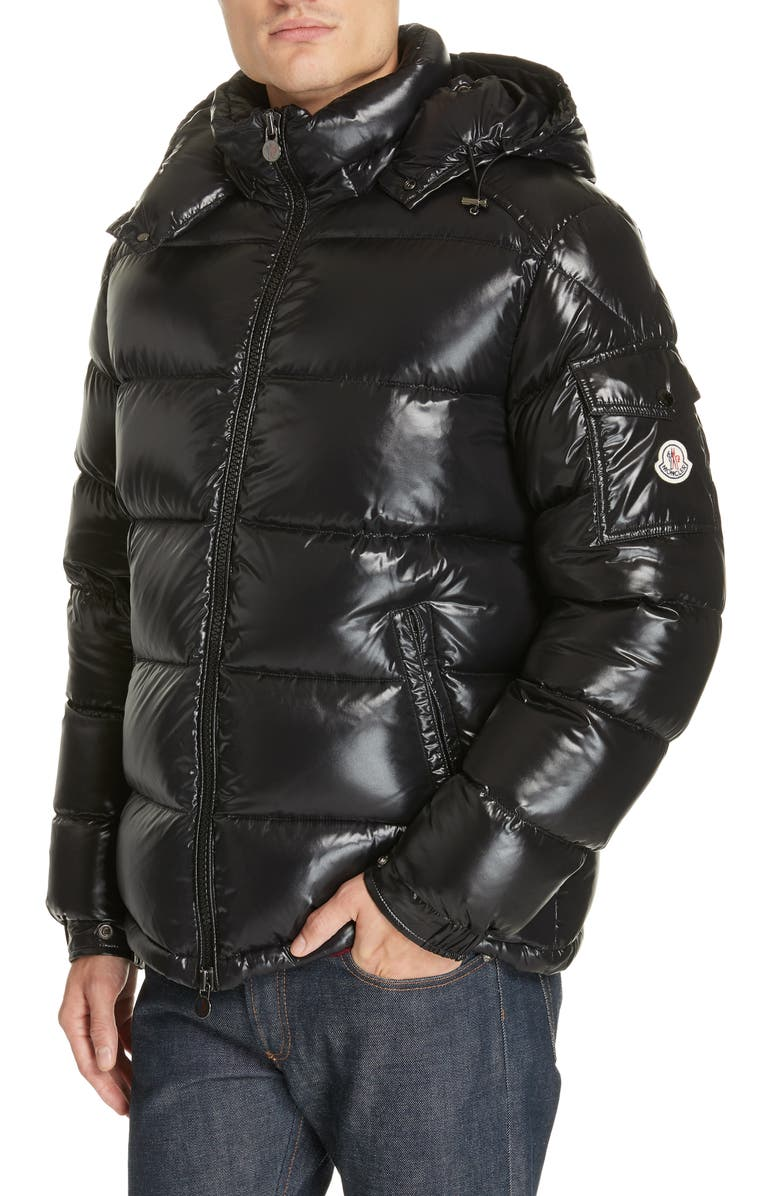 MONCLER Maya Laque Quilted Down Jacket, Main, color, BLACK