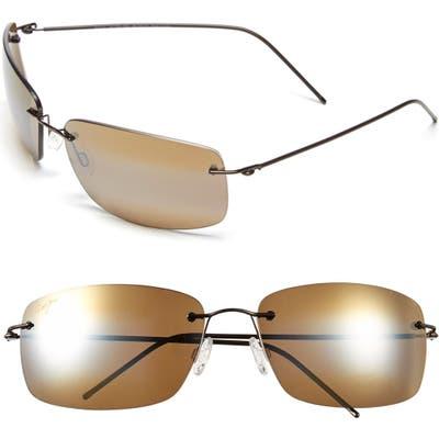 Maui Jim Frigate Polarizedplus2 65mm Sunglasses - Gloss Dark Brown/ Hcl Bronze