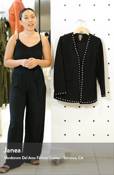 Studded Stretch Crepe Jacket, sales video thumbnail