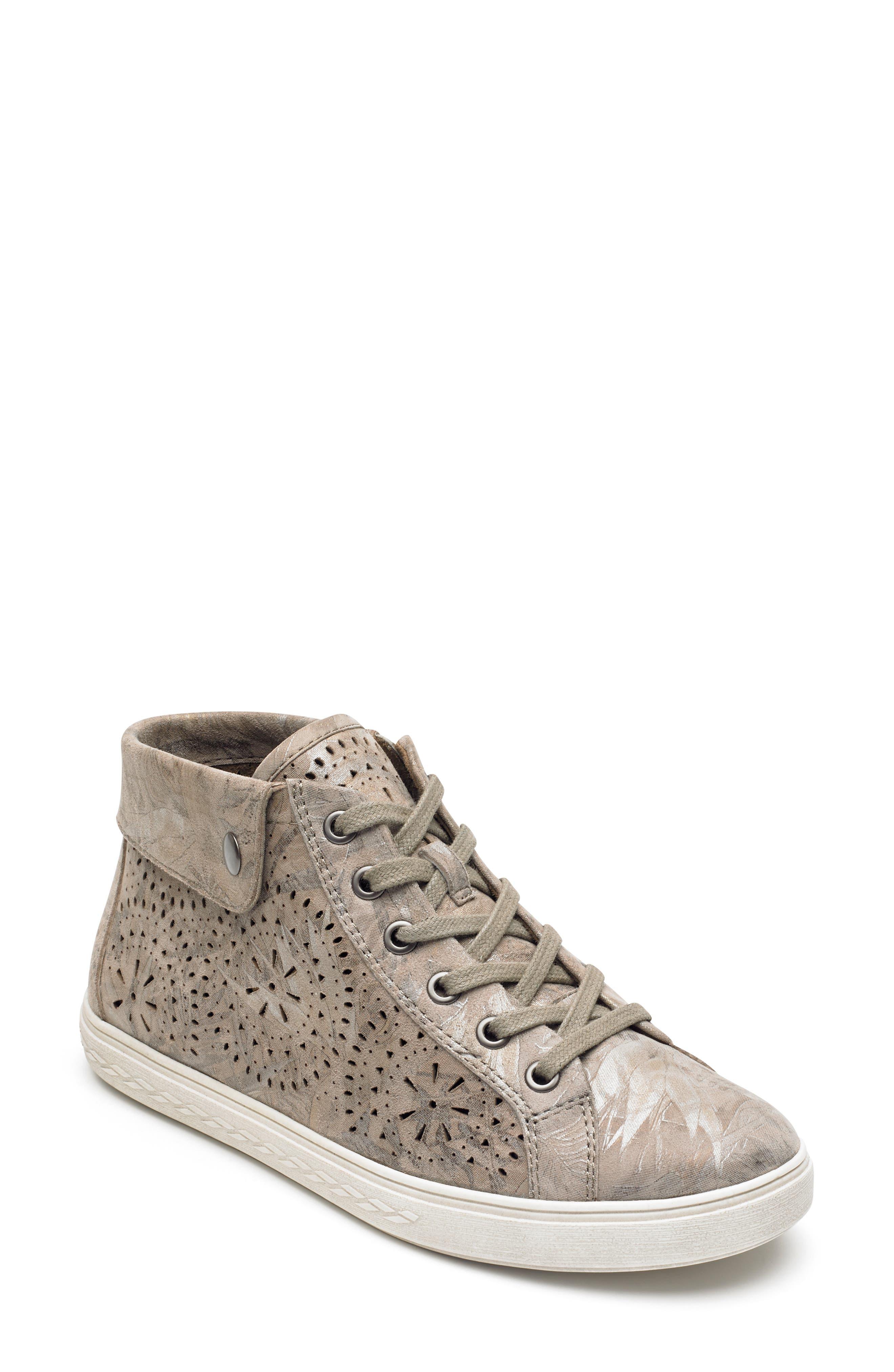 Rockport Cobb Hill Willa High Top Sneaker, Grey