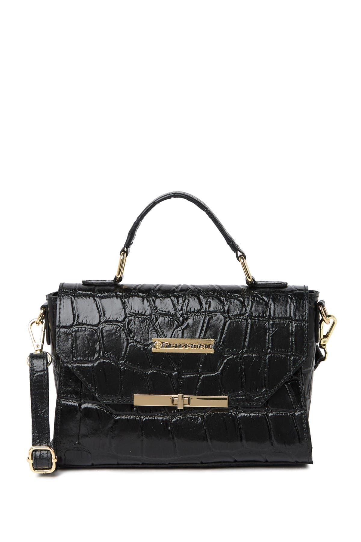 Image of Persaman New York Valentine Embossed Leather Crossbody Bag