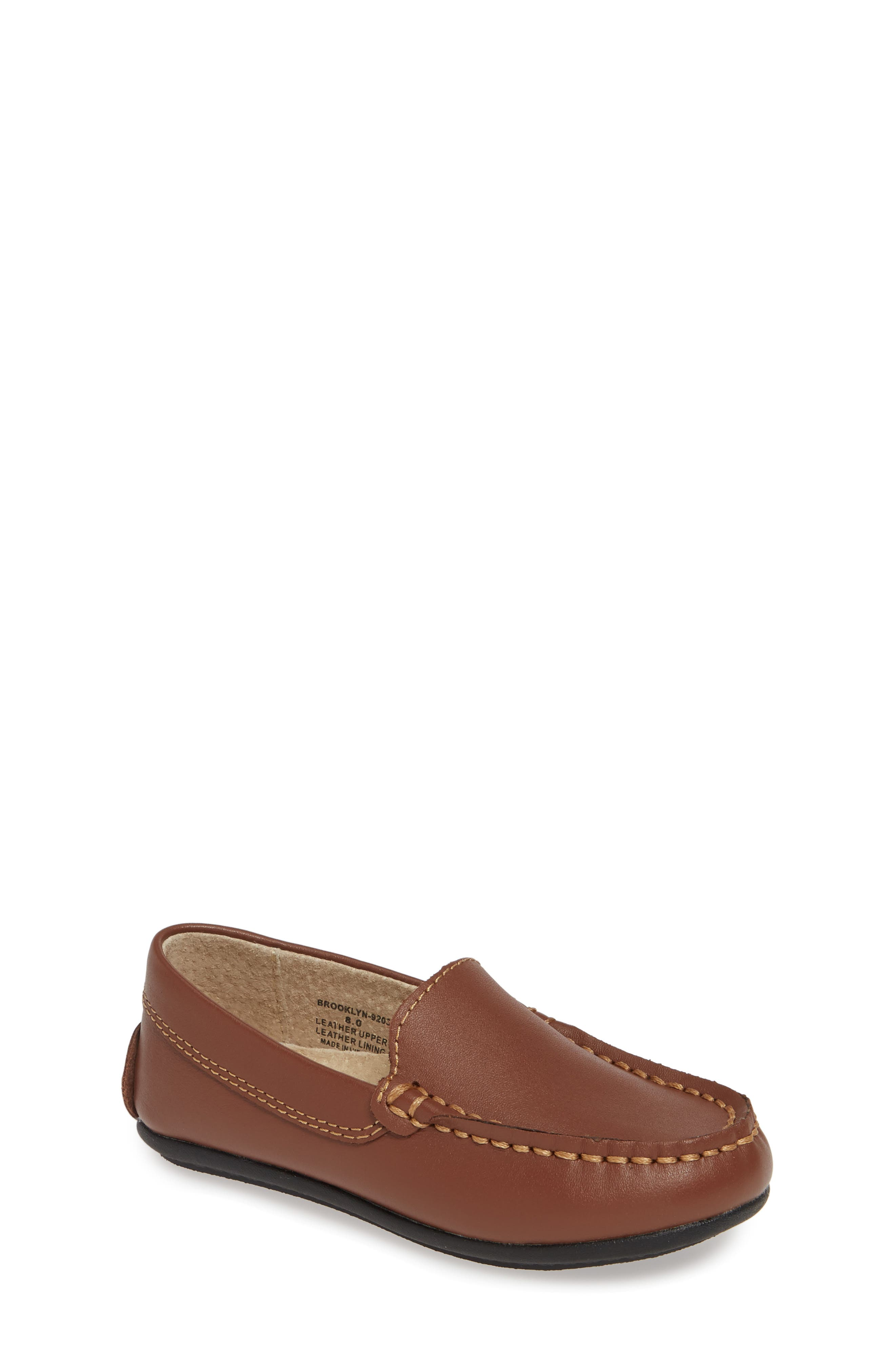 Made from supple leather, this charming loafer features a cushioned insole that will keep him comfortable with every step he takes. Style Name: Footmates Brooklyn Loafer (Walker, Toddler, Little Kid & Big Kid). Style Number: 5794327. Available in stores.