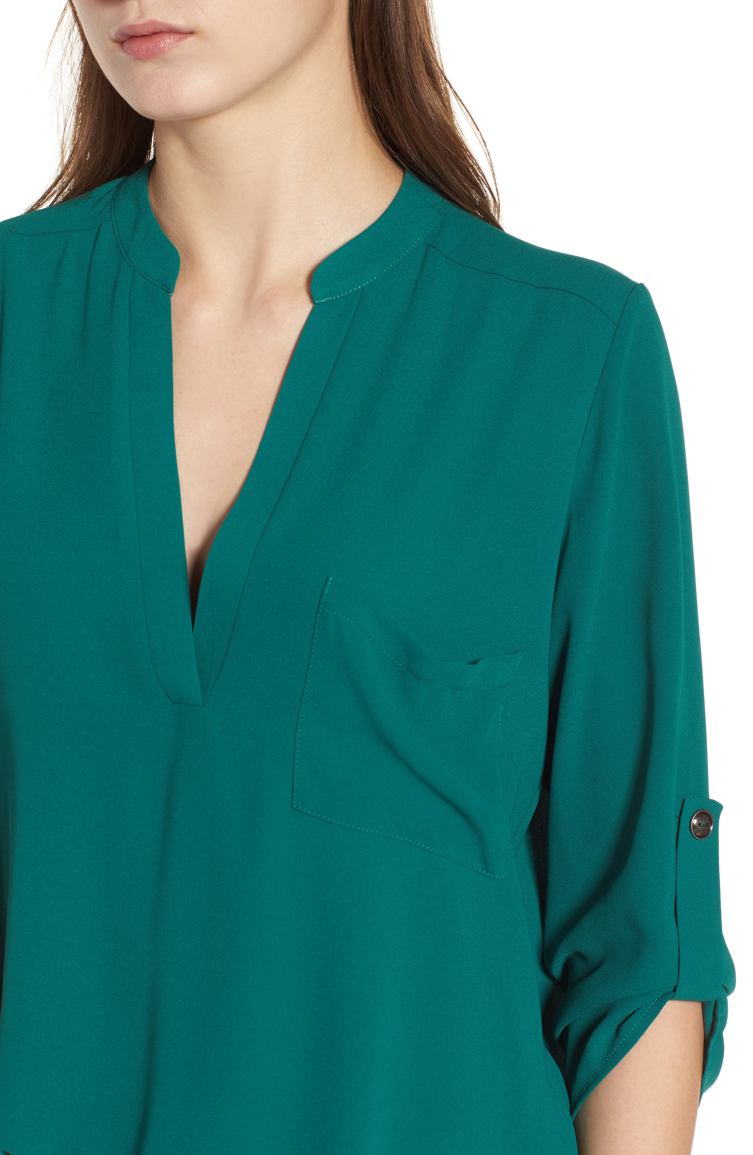 ,                             Perfect Roll Tab Sleeve Tunic,                             Alternate thumbnail 60, color,                             317