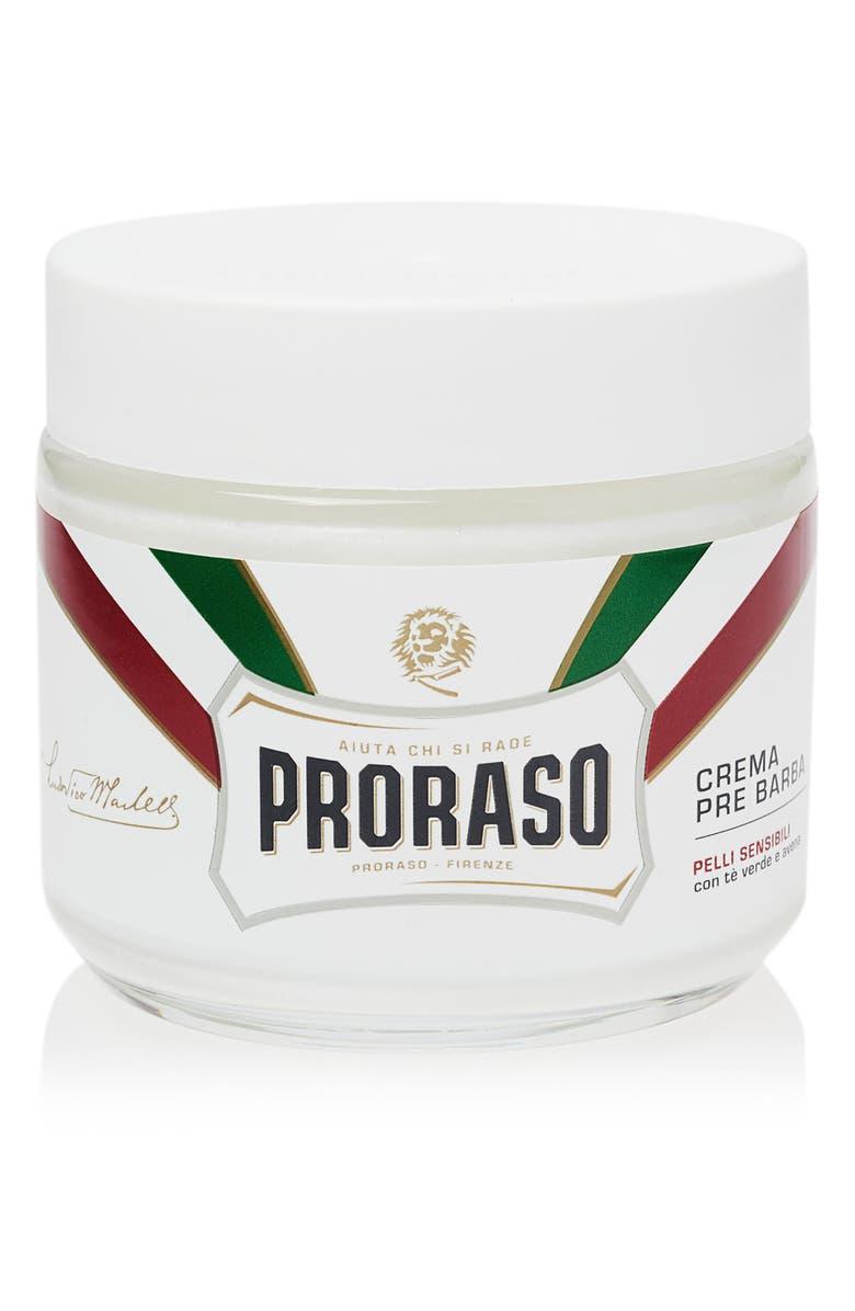 PRORASO Men's Grooming Pre-Shave Cream for Sensitive Skin, Main, color, NO COLOR