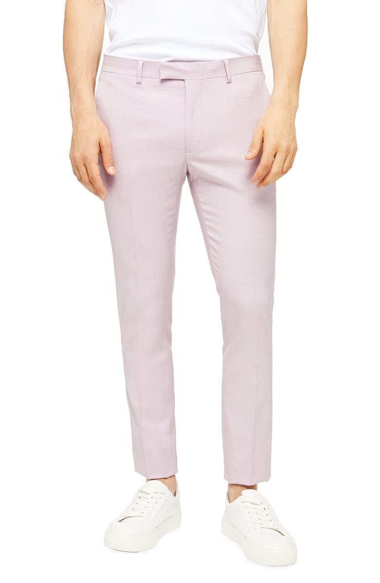 TOPMAN Dax Super Skinny Fit Suit Dress Pants, Main, color, PURPLE