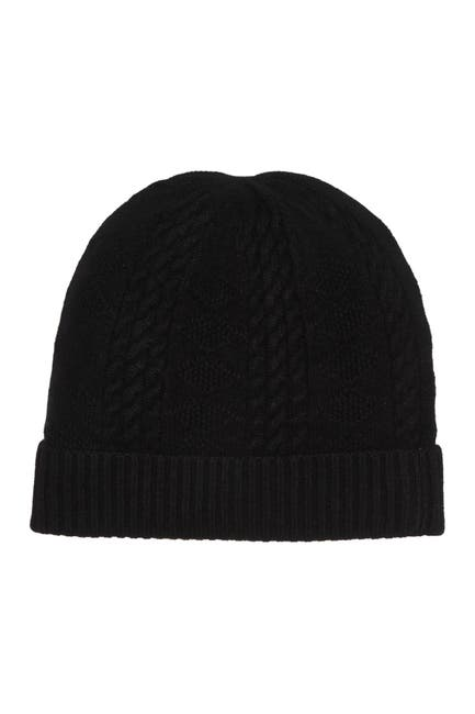 Image of Quinn Cable Stitched Cashmere Beanie