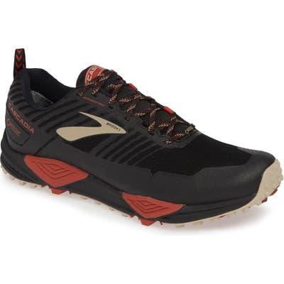 Brooks Cascadia 13 Gore-Tex Waterproof Trail Running Shoe, Black