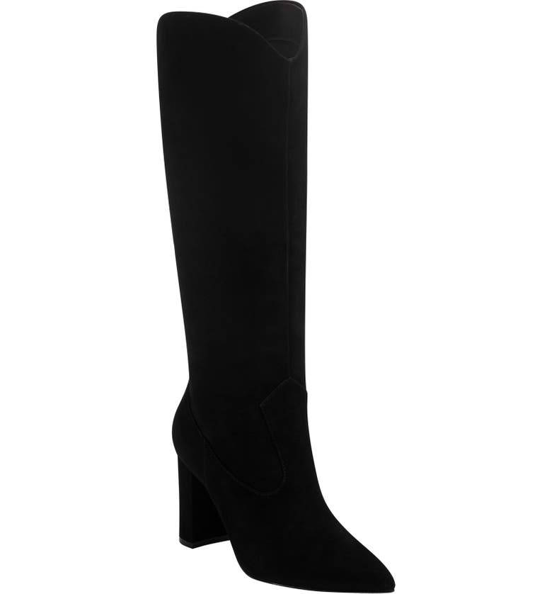 MARC FISHER LTD Uday Boot, Main, color, BLACK SUEDE