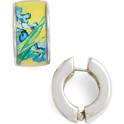 Erwin Pearl Silvertone Irises Earrings