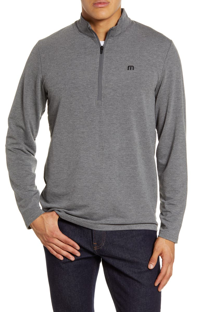 TRAVISMATHEW Times Like These Half Zip Pullover, Main, color, AS IS GREY