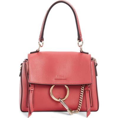 Chloe Mini Faye Day Leather Crossbody Bag - Pink
