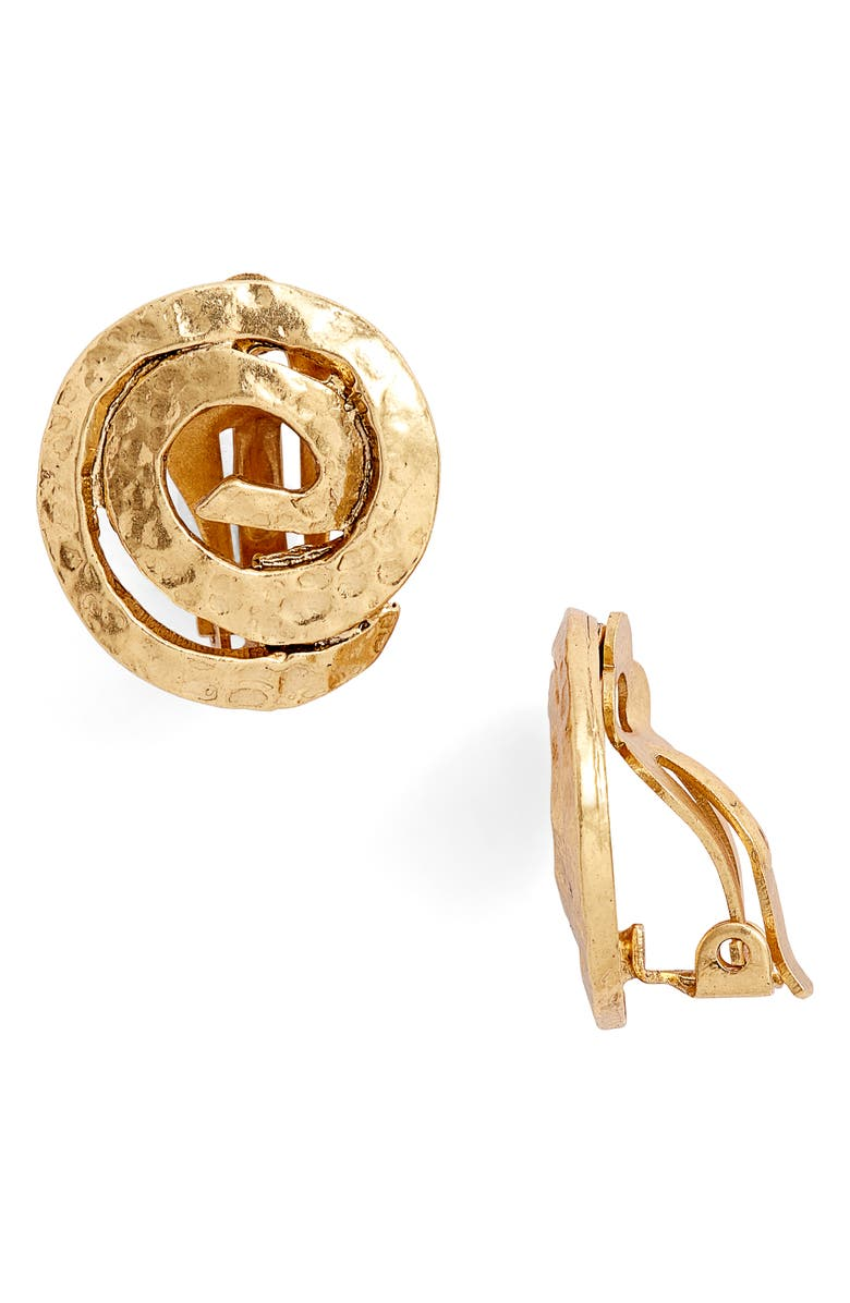 KARINE SULTAN Circular Statement Earrings, Main, color, GOLD