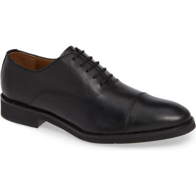 Johnston & Murphy Carlson Cap Toe Oxford- Black