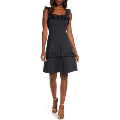 Lilly Pulitzer Astoria Ruffle Fit & Flare Dress, Black