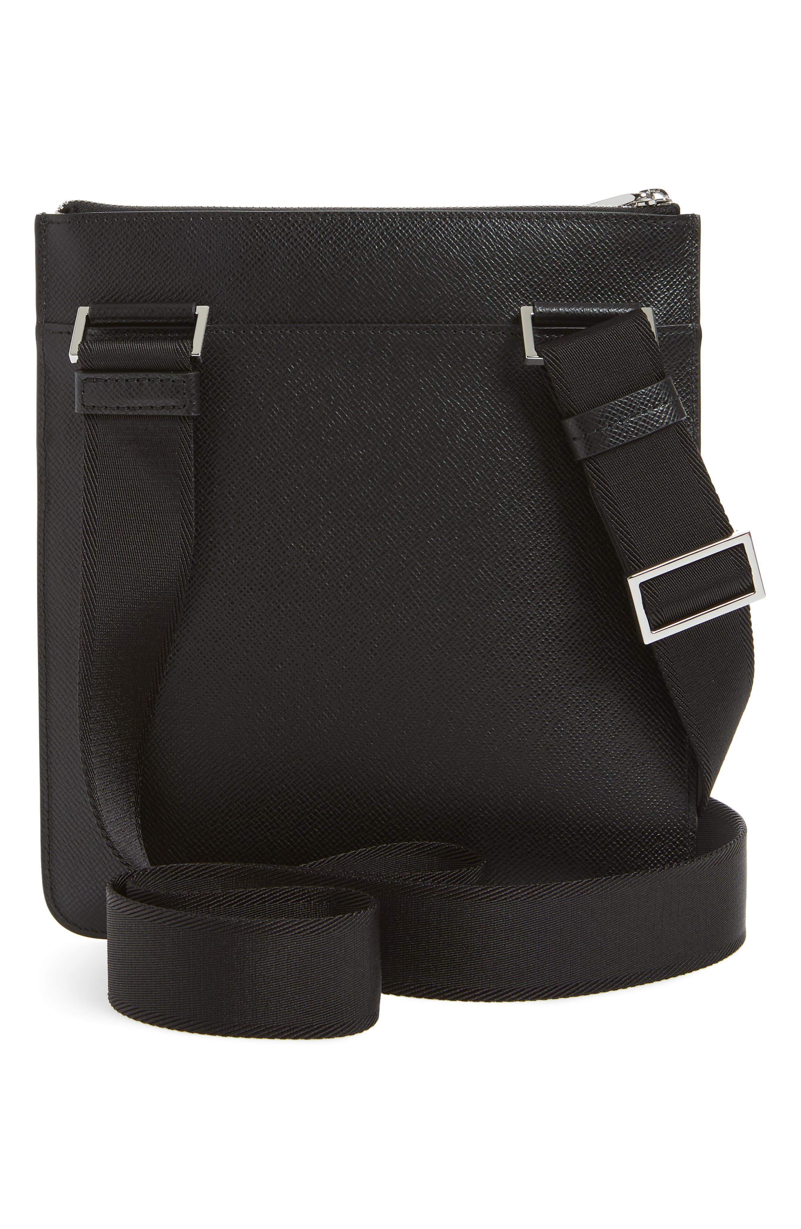 ,                             Signature Crossbody Bag,                             Alternate thumbnail 3, color,                             BLACK