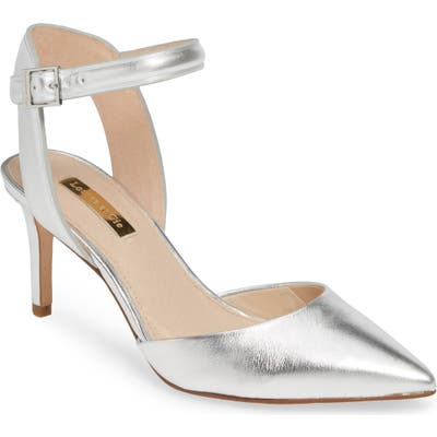 Louise Et Cie Kota Ankle Strap Pump- Metallic