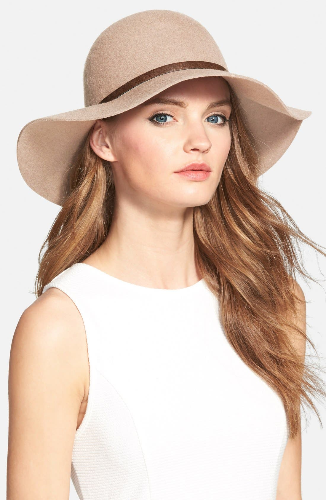 ,                             Floppy Wool Hat,                             Main thumbnail 17, color,                             235