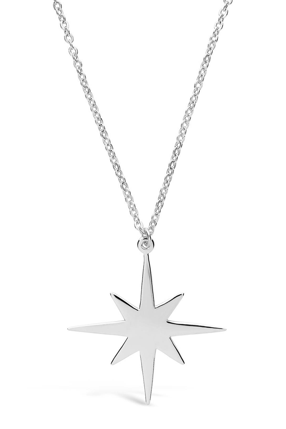 Image of Sterling Forever Sterling Silver Bursting Star Pendant Necklace