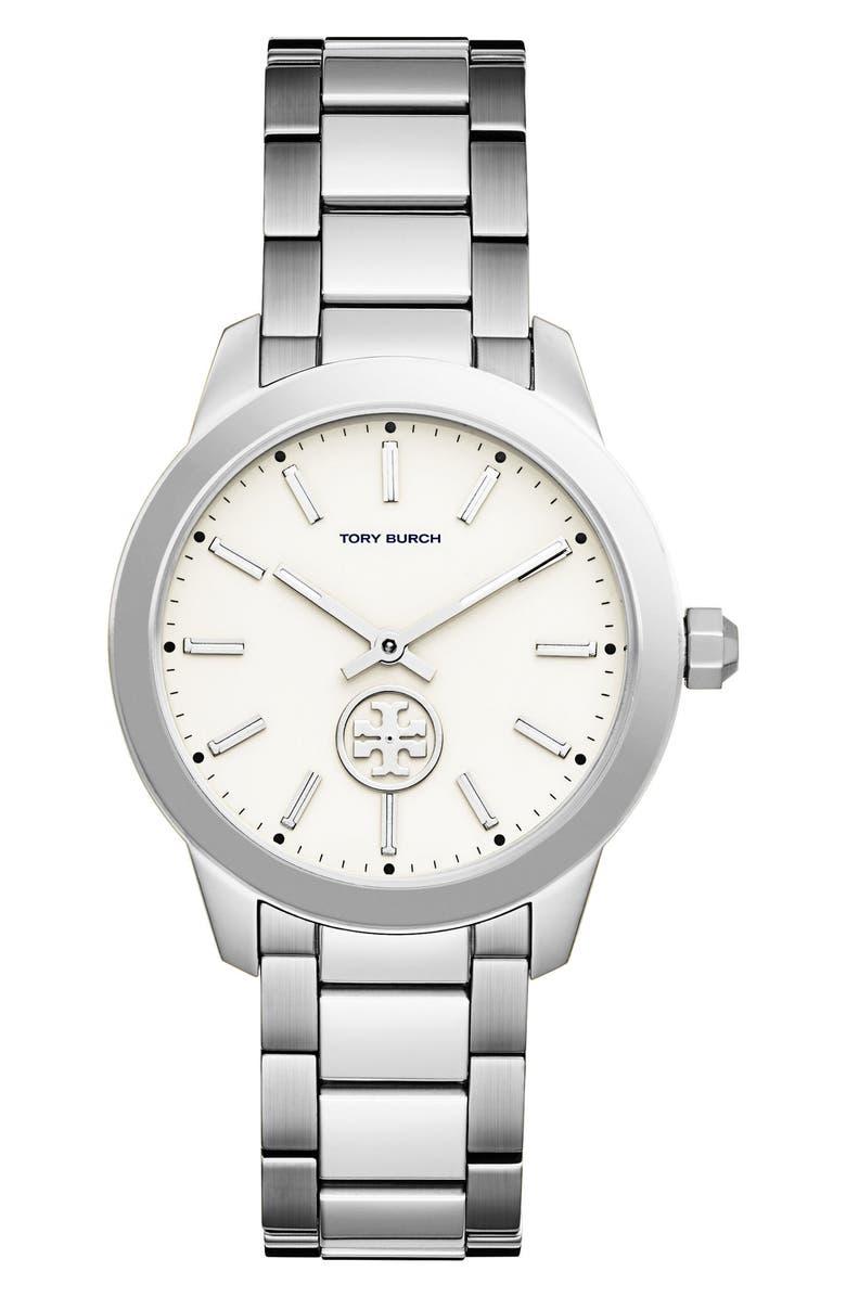 TORY BURCH Collins Bracelet Watch, 38mm, Main, color, 040