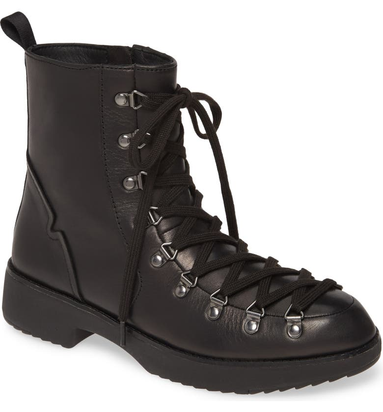 FITFLOP Skandi Hiker Boot, Main, color, ALL BLACK LEATHER