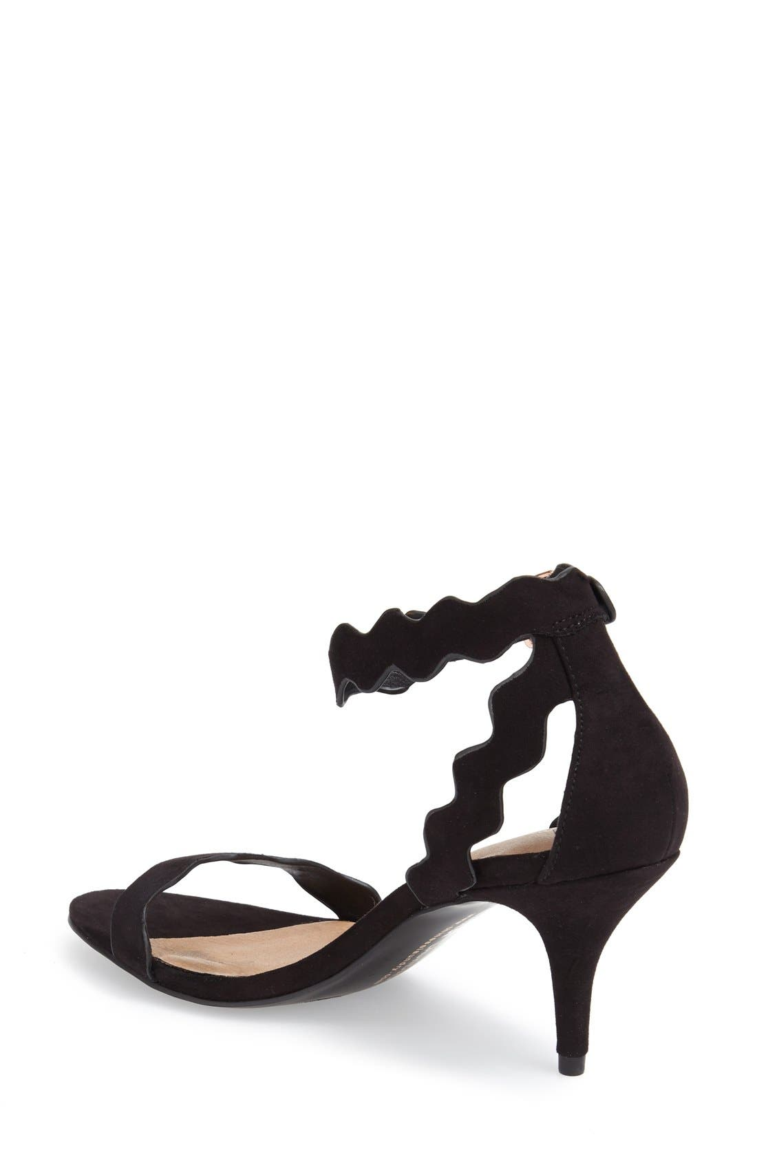 ,                             'Rubie' Scalloped Ankle Strap Sandal,                             Alternate thumbnail 8, color,                             001
