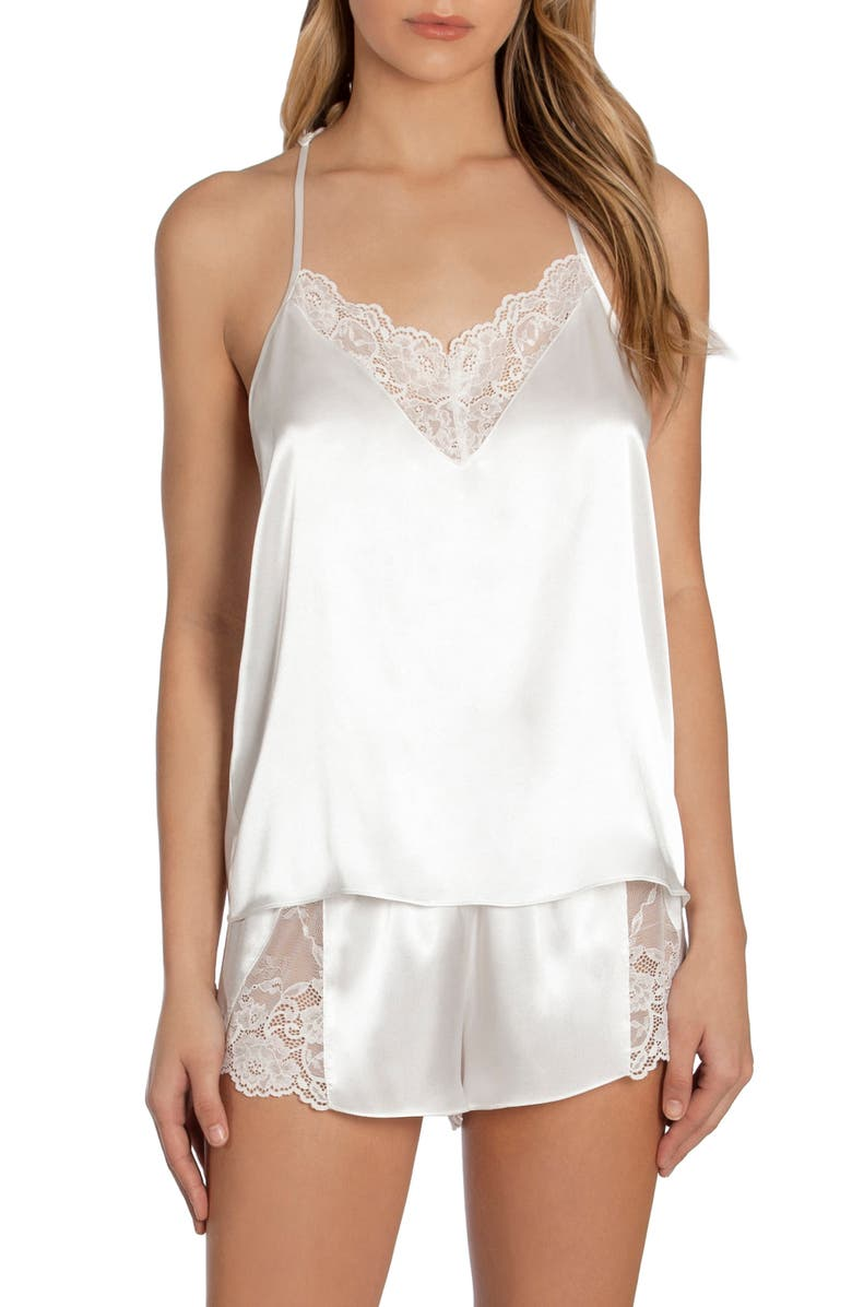 IN BLOOM BY JONQUIL Grace Short Satin Pajamas, Main, color, OFF WHITE