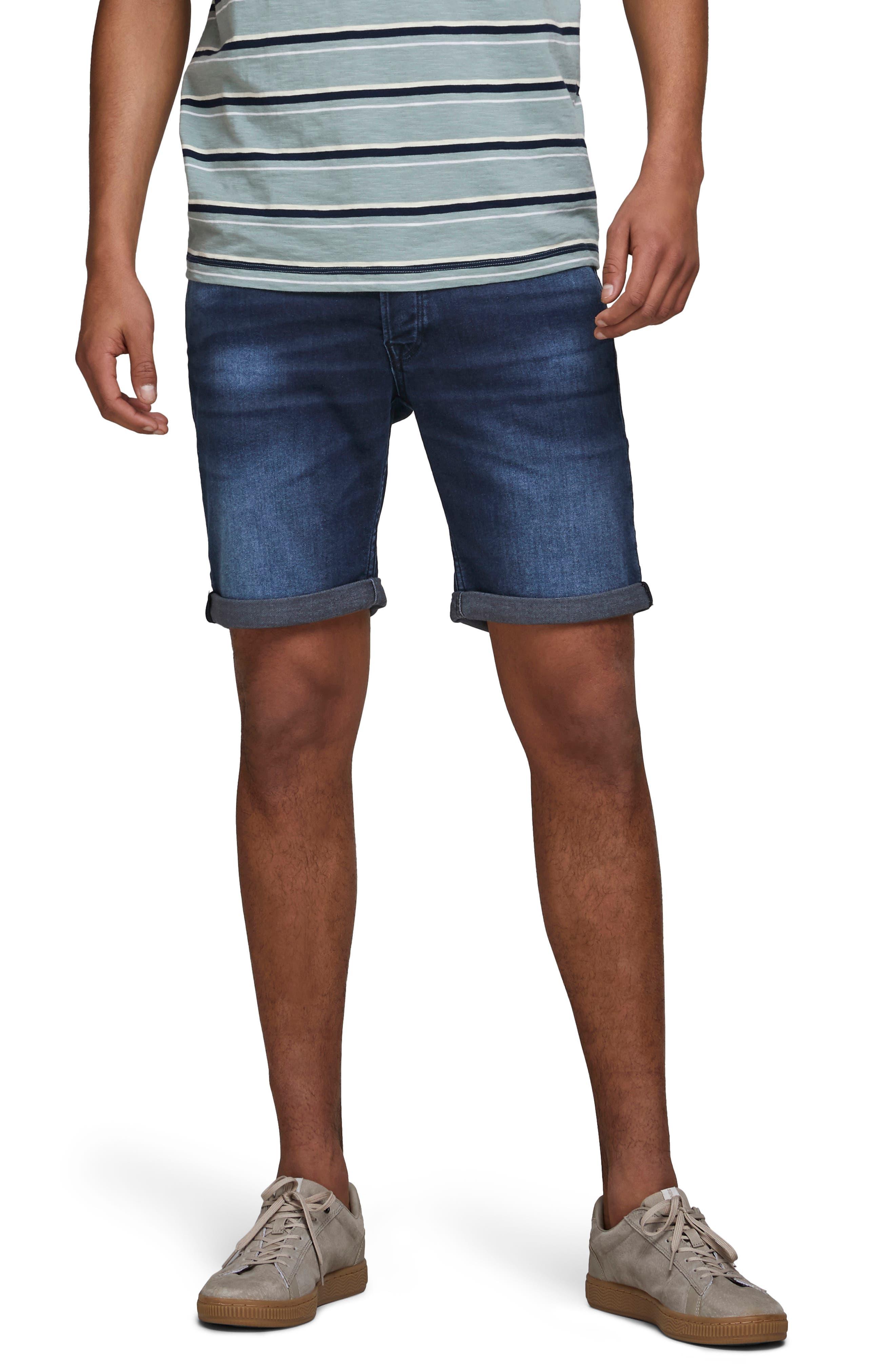 Rick Icon Ge 011 Knit Denim Shorts