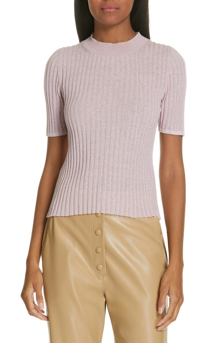 NANUSHKA Ange Ribbed Cotton & Linen Blend Sweater, Main, color, 500