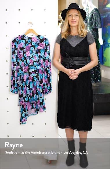Parker Ruffle Back Cutout Long Sleeve Dress, sales video thumbnail