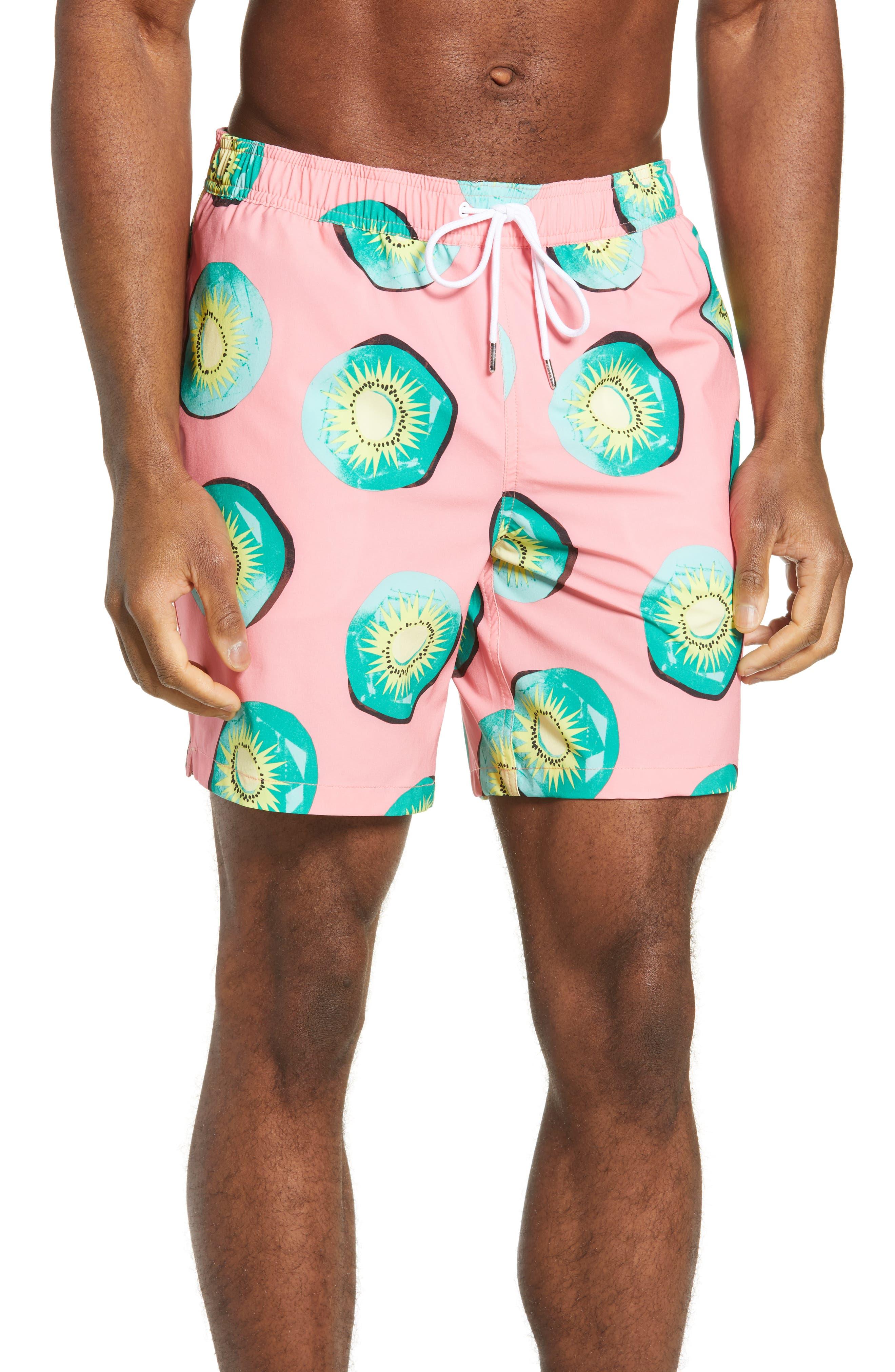 Bonobos E-Waist 7-Inch Swim Trunks, Pink