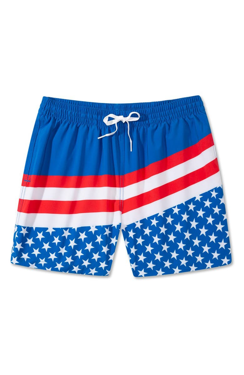 CHUBBIES The Freedoms 5.5-Inch Swim Trunks, Main, color, MEDIUM BLUE