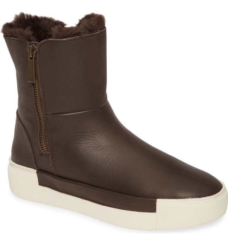 JSLIDES Victory Double Zip Boot, Main, color, BROWN LEATHER