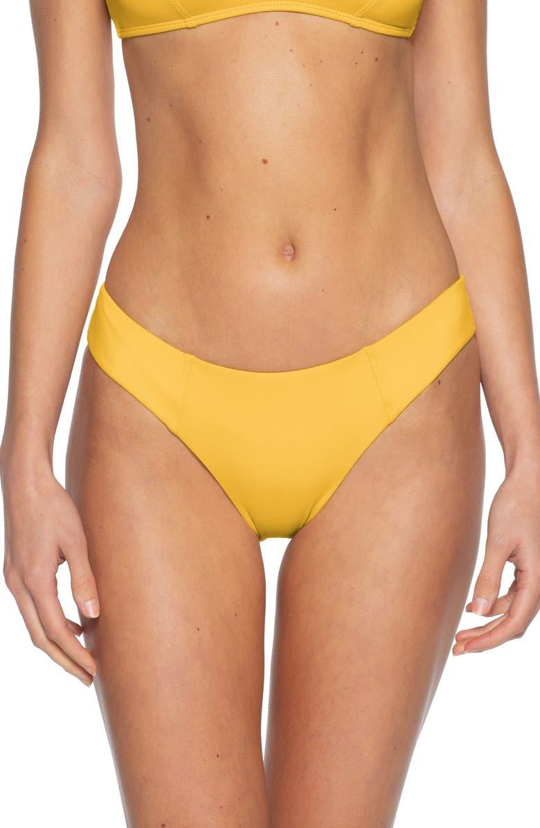 BECCA Color Code Bikini Bottoms, Main, color, SUNFLOWER