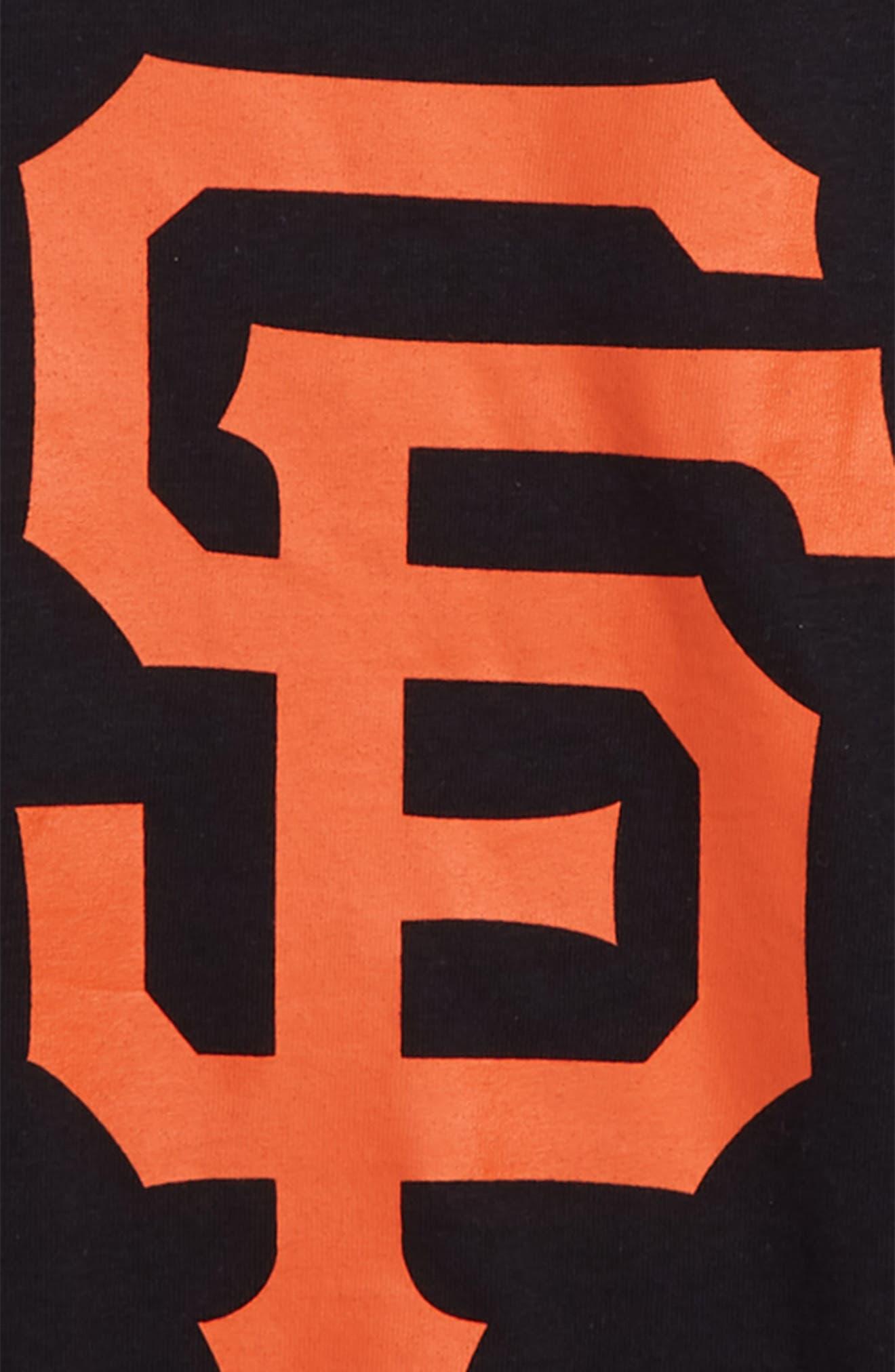 ,                             Super Rival San Francisco Giants T-Shirt,                             Alternate thumbnail 2, color,                             JET BLACK