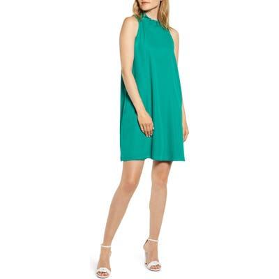 Plus Size Gibson X Hi Sugarplum! Cavallo Ruffle Neck Date Dress, Green
