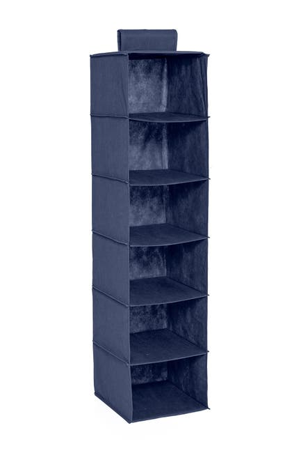 Image of Honey-Can-Do Navy 6-Shelf Hanging Organizer