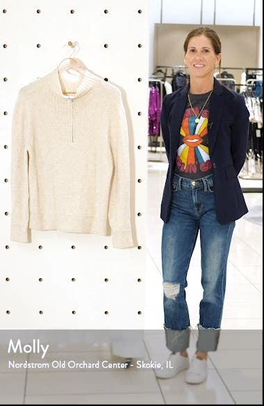 Quarter Zip Mock Neck Sweater, sales video thumbnail