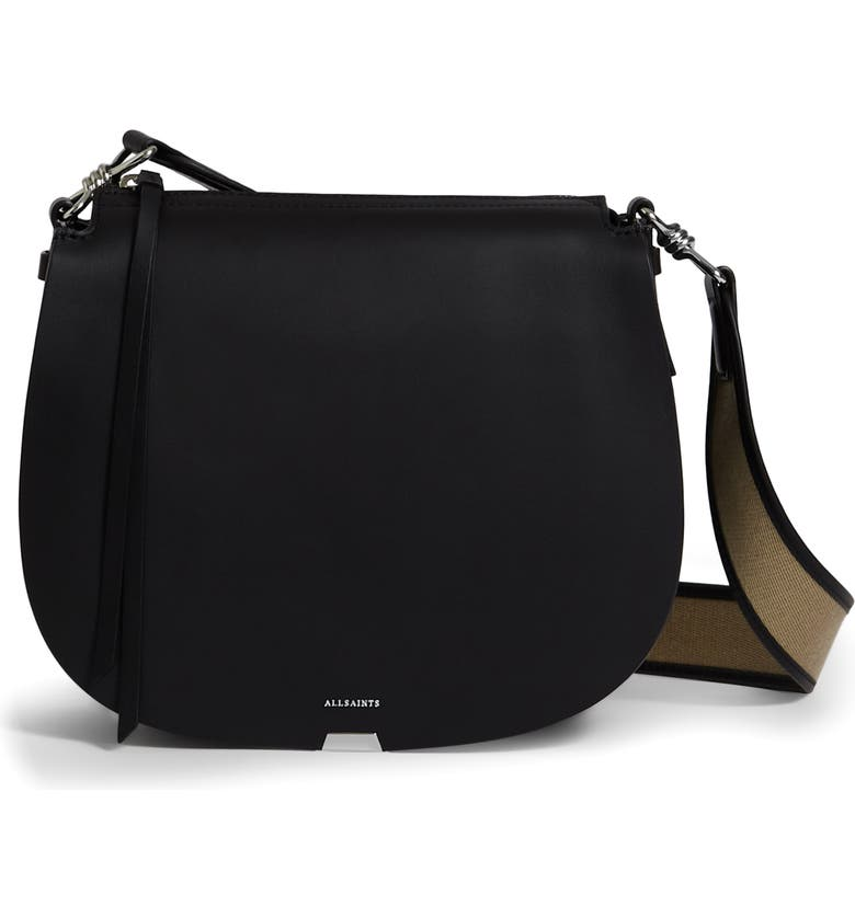 ALLSAINTS Darcy Round Crossbody Bag, Main, color, 001
