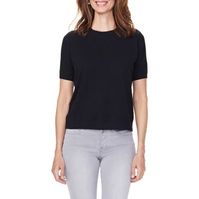 Nydj Short Sleeve Knit Top, Black