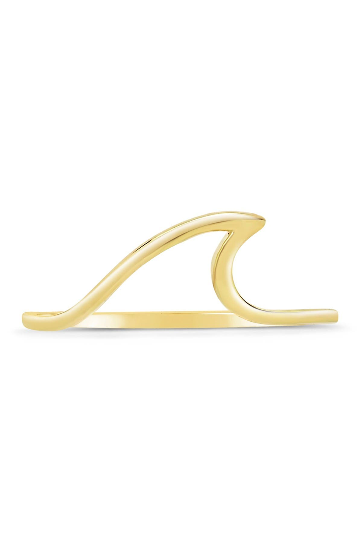 Image of Sterling Forever 14K Gold Vermeil Plated Sterling Silver Wave Ring