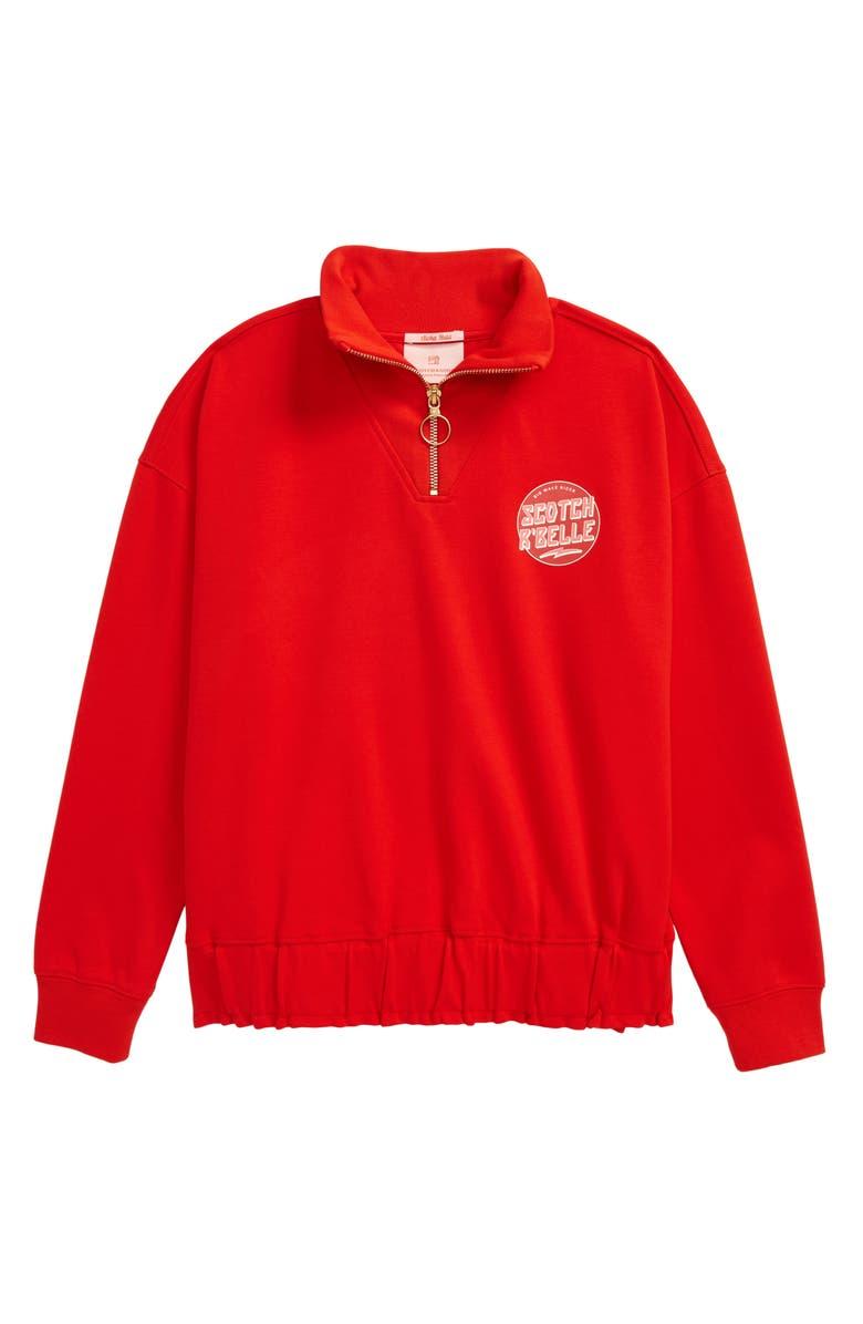 SCOTCH R'BELLE Half-Zip Sweatshirt, Main, color, 640