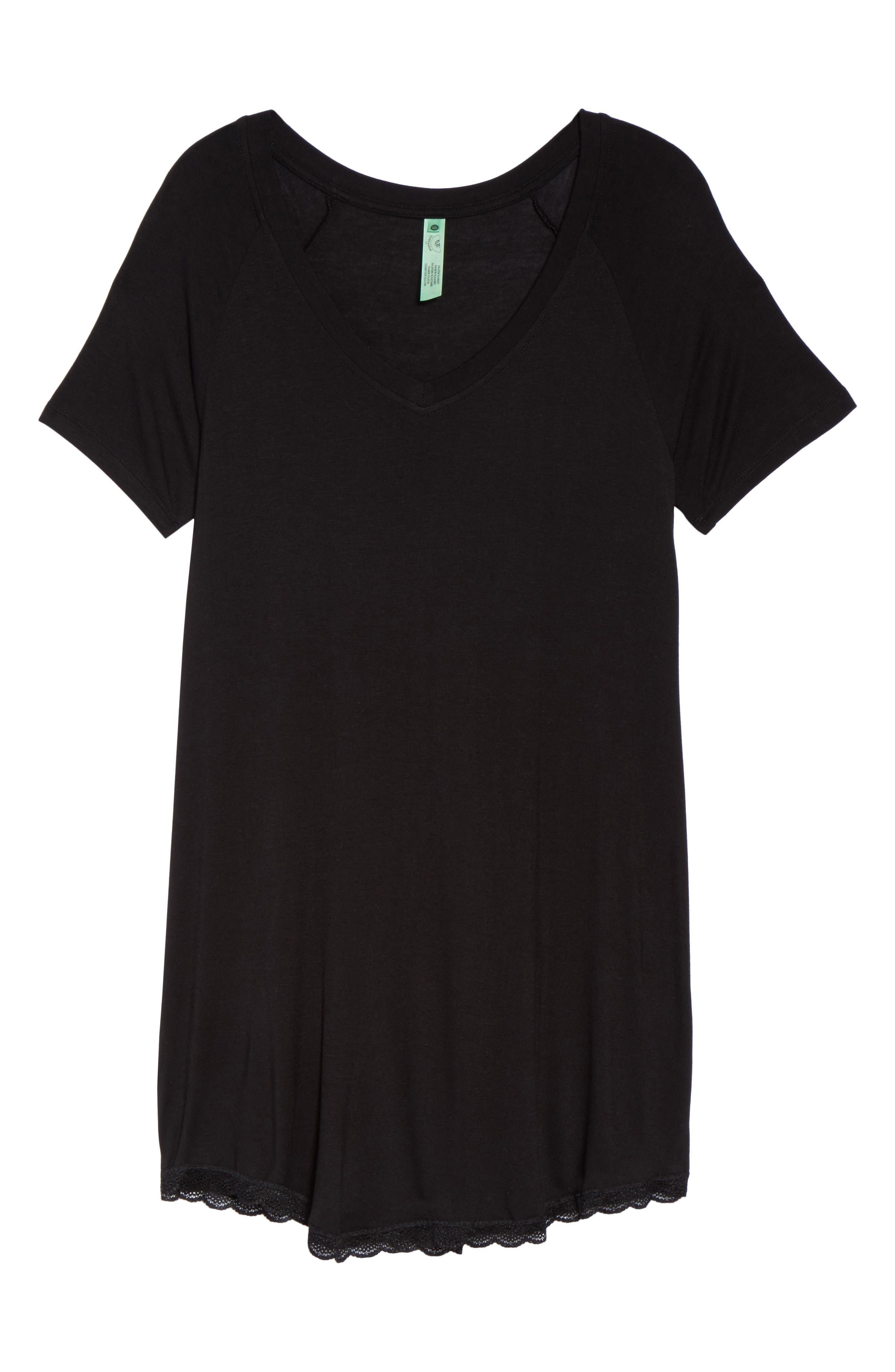 ,                             All American Sleep Shirt,                             Alternate thumbnail 6, color,                             BLACK