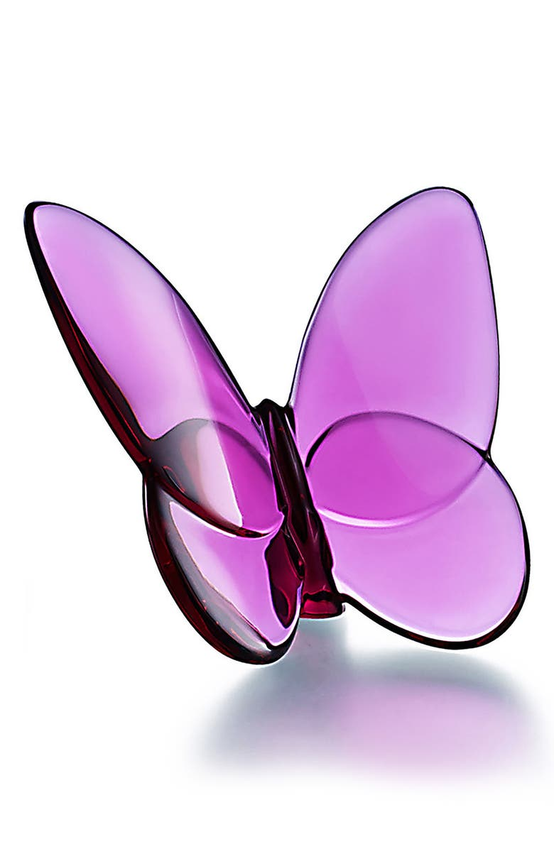 BACCARAT Lucky Lead Crystal Butterfly, Main, color, PEONY PINK
