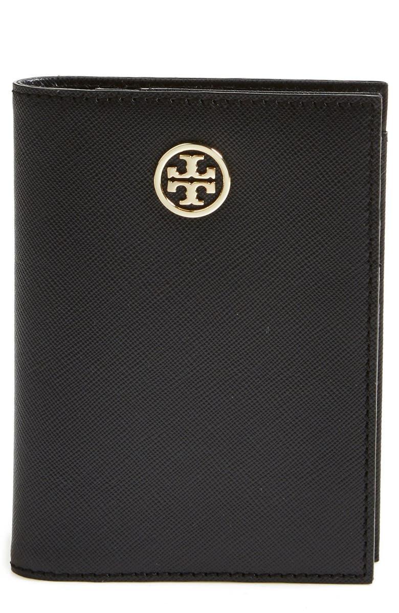 TORY BURCH 'Robinson' Passport Case, Main, color, 001