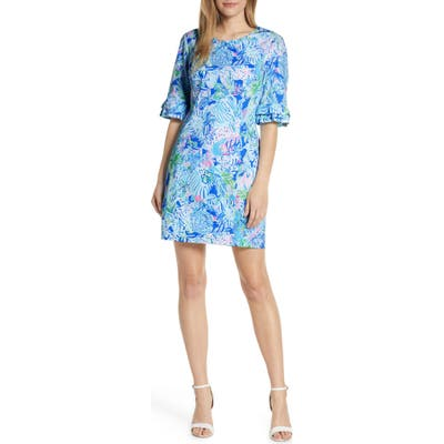 Lilly Pulitzer Fiesta Stretch Sheath Dress, Blue