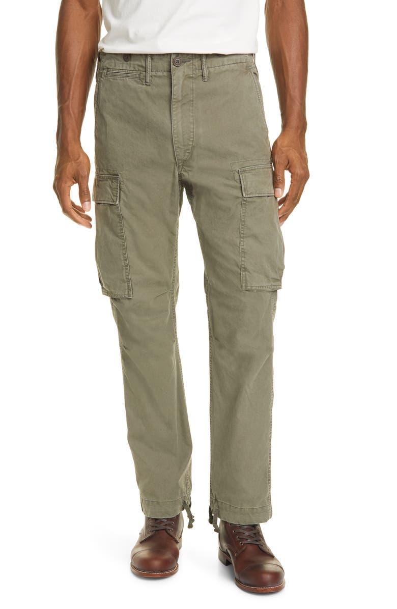 RRL Surplus Cargo Pants, Main, color, DARK OLIVE
