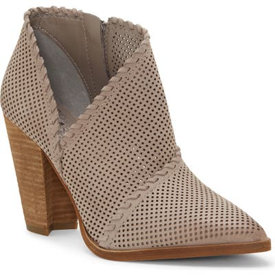 Vince Camuto Lamorna Perforated Pointy Toe Bootie- Grey